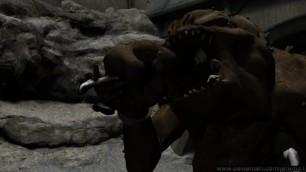 Rancor Eats Luke - Vore Animation