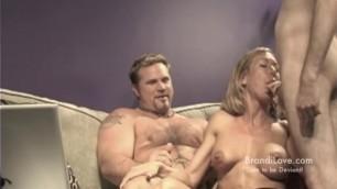 MILF Brandi Love Sucking and Fucking two Lucky Guys