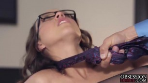 Jade Nile banged by her boss on his desk